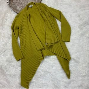 Nordstrom 100% Cashmere Waterfall Front Cardigan